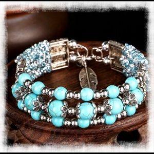 Jewelry - 🎉2/$24🎉NEW🎊Turquoise TibetanSilver Bangle